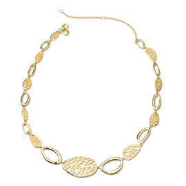RACHEL GALLEY Boroque Pebble Collection Necklace in Gold Plated Silver 38.43 Grams 16 to 18 Inch