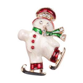 Multi Colour Austrian Crystal Enamelled Christmas Theme Brooch