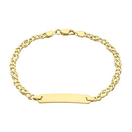Celtic Chain Bracelet in 9K Yellow Gold 6.5 Inch