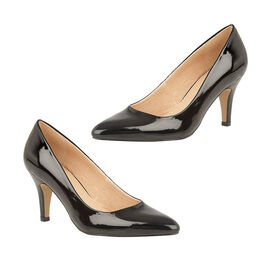 Lotus Black Patent Holly Court Shoes