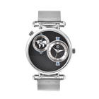 STRADA Japanese Movement Watch with Steel Colour Mesh Strap