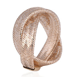 TLV Italian Made- 9K Yellow Gold Stretchable Ring (Size Medium) (Size M to P)