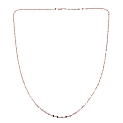 JCK Vegas Collection Rose Gold Overlay Sterling Silver Sparkle Forzatina Chain (Size 24)