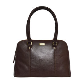 Assots London SYDNEY Lizard Designer Genuine Leather Grab Bag with Detachable and Adjustable Shoulde
