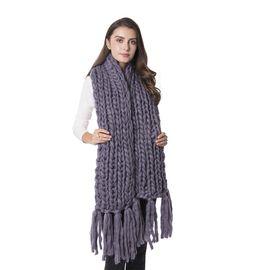Grey Colour Soft Scarf (Size 160x25 Cm)