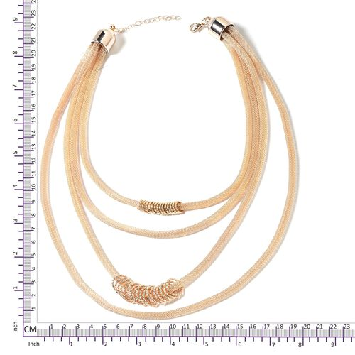 Multi - Layer Necklace (Size 18) in Gold Plated