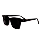 SOHO SQUARE Unisex Square Grey Polarised Lens - Black