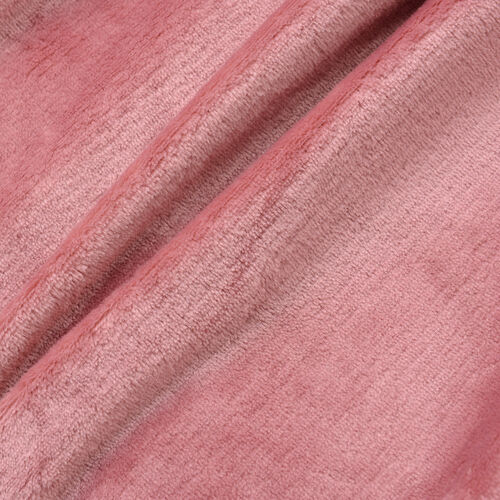 100% Microfibre Flannel Blanket with Self-Fabric Border (Size 200x150 Cm) - Dusky Rose
