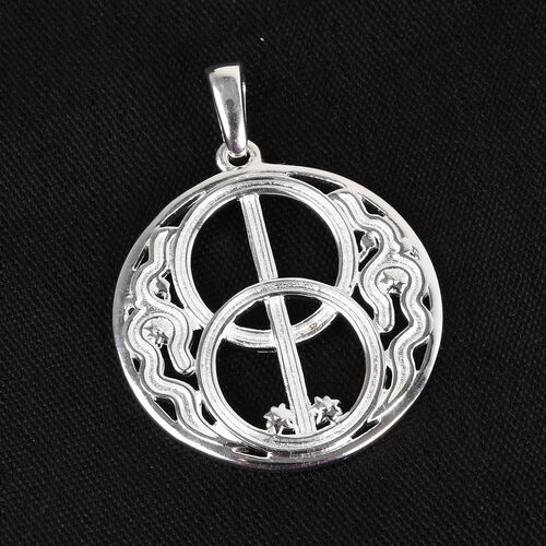 Sterling Silver Chalice Well Fancy Pendant