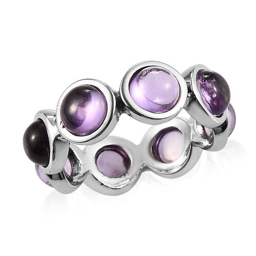AA Amethyst Ring in Stainless Steel 3.50 Ct.