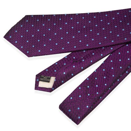 William Hunt - Polka Dot Tie - Purple