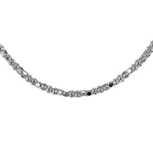 Sterling Silver Mirror Popcorn Chain (Size 16), Silver wt 3.00 Gms