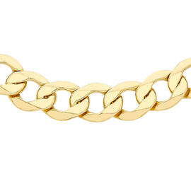 Italian Made - 9K Yellow Gold Curb Necklace (Size 18), Gold wt 16.00 Gms.