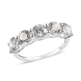 J Francis Made with SWAROVSKI ZIRCONIA 5 Stone Ring in Silver