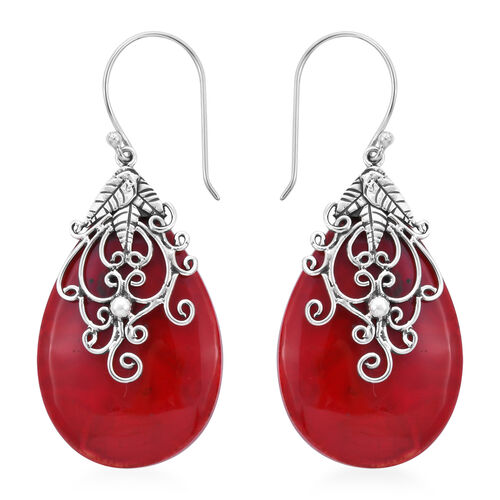 Royal Bali Collection Sponge Coral Drop Earrings in Sterling Silver