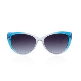 Designer Inspired Sunglasses - Blue and White