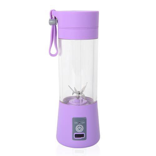 Portable Juicer/ Cordless Blender Bottle with Stainless Steel Blades and USB Cable - Lilac Colour
