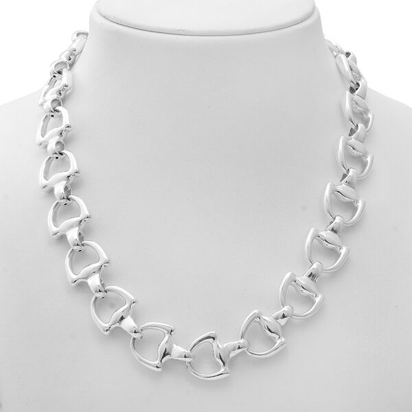 Limited Edition- Designer Inspired - Sterling Silver Snaffle Necklace (Size 20) with Senorita Clasp