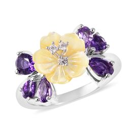 Jardin Collection - Yellow Mother of Pearl, Amethyst, Rose De France Amethyst and Natural White Camb