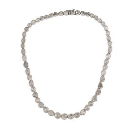 Super Auction - Artisan Crafted Polki Diamond Necklace (Size 18) in Platinum Overlay Sterling Silver