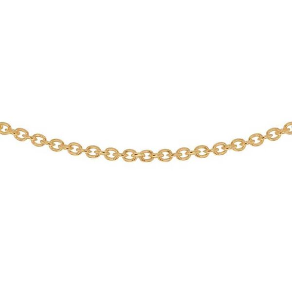 Yellow Gold Overlay Sterling Silver Trace Chain (Size 18)