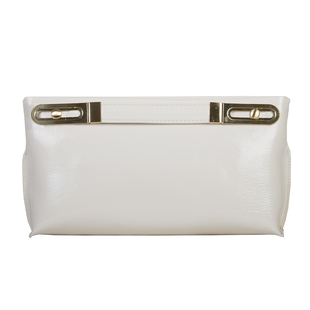 Bulaggi Collection - Polly Clutch Bag with Adjustable Shoulder Strap in Bone White (Size 17x32x4Cm)