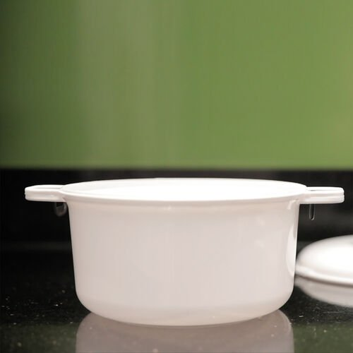 Microwave Steamer (Size 26.5x21x15.2 Cm) Colour White and Black