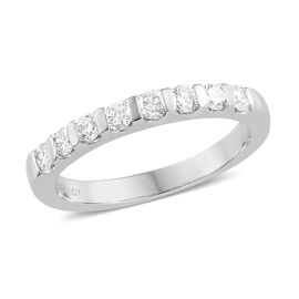 RHAPSODY 950 Platinum IGI Certified Diamond (Rnd) (VS/E-F) Band Ring 0.500 Ct.