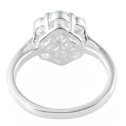 Super Auction- J Francis - Pressure Set (Rnd) Ring in Sterling Silver Made With SWAROVSKI ZIRCONIA