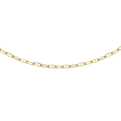 14K Yellow Gold Mini Flat Rambo Chain (Size 18)