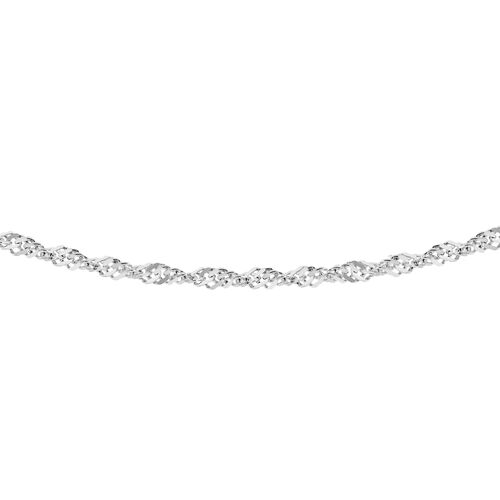 Close Out Deal- Sterling Silver Diamond Cut Singapore Chain (Size 30).Silver Wt 3.30 Gms