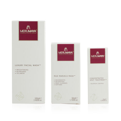MERUMAYA- Super Spot Remover- Luxury Facial Wash, Mud Marvels Mask and Concentrated Spot Remover- Es