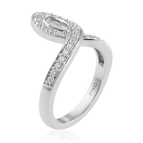 RACHEL GALLEY 950 Platinum IGI Certified Diamond (VS/E-F) Ring 0.50 Ct. Platinum wt 6.60 Grams