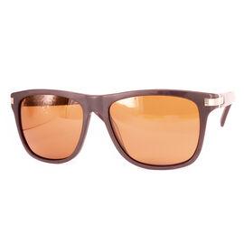SOHO SQUARE Mens Square Brown Polarised Lens - Shiny Brown