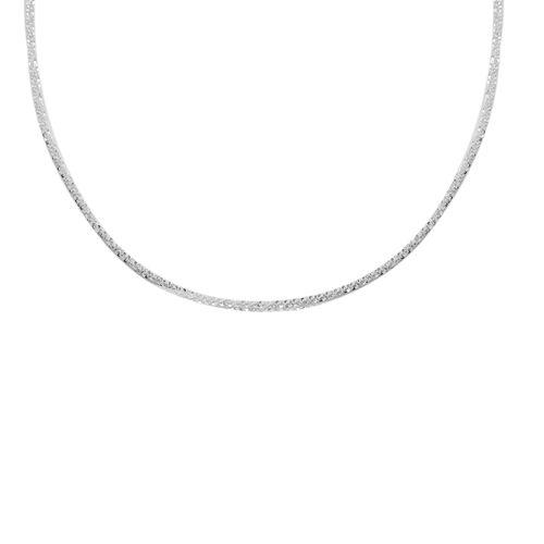 Adjustable Diamond Cut Designer Rock Matinee Necklace (Size 24) in Rhodium Overlay Sterling Silver