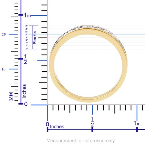 ILIANA 18K Yellow Gold IGI Certified Diamond (Rnd) (SI/G-H) Half Eternity Band Ring 0.250 Ct.