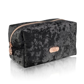 Soul Beauty: Luxe Velvet Limited Edition Cosmetic Bag - Black