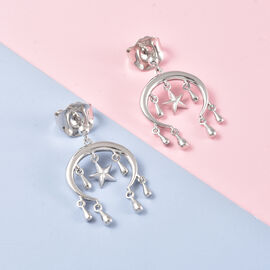 LucyQ Star Collection- Rhodium Overlay Sterling Silver Earrings (with Push Back)
