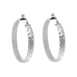 Hatton Garden Close Out Deal- Sterling Silver Hoop Earrings (with Clasp)