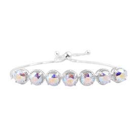 J Francis AB Crystal From Swarovski Bolo Bracelet in Sterling Silver