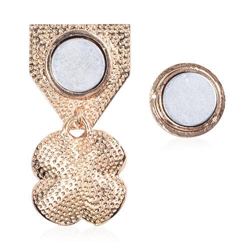 TJC Poppy Design Black Austrian Crystal Enamelled Poppy Magnetic Brooch
