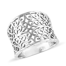 Artisan Crafted - Sterling Silver Open Filigree Design Band Ring