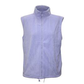 Solid Lavender Ladies Gilet Fleece Jacket