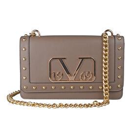 19V69 ITALIA by Alessandro Versace Crossbody Bag Detachable with Chain Strap (Size 27x6x17Cm) - Brow