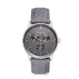 Thomas Calvi Grey Faux Multi Dial Watch in Silver Tone with Grey Strap