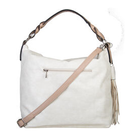 Bulaggi Collection - Scarlett - Handbag With Adjustable and Removable Strap (32x32x13 cm) - Cream