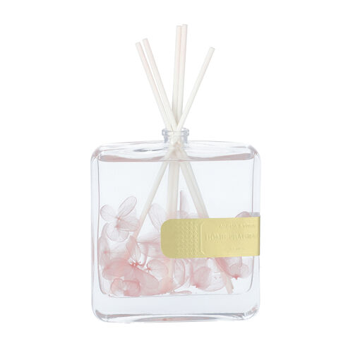 The 5th Season - 100ml Square Diffuser with Real Flowers - Pink (Fragrance Tresor In Love)