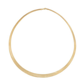 Flat Omega Necklace in 9K Yellow Gold 17 with 2 inch Extender