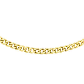 9K Yellow Gold Diamond Cut Curb Chain (Size 18 with 2 inch Extender), Gold wt 1.40 Gms