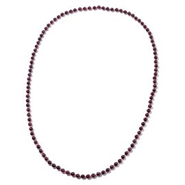 378.50 Ct Indian Garnet Beaded Necklace 36 Inch